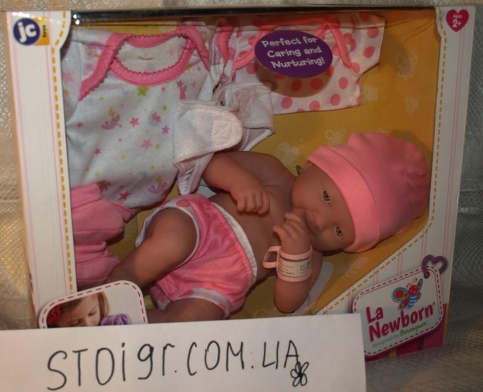 JC Toys La Newborn реалистичный пупс (улыбка)