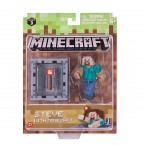 Майнкрафт фигурка Стива с аксессуарами Minecraft Steve