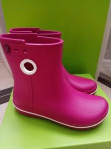 Резиновые сапоги Crocs розовые