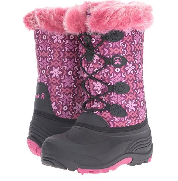 Зимние сапоги Камик с розовым мехом