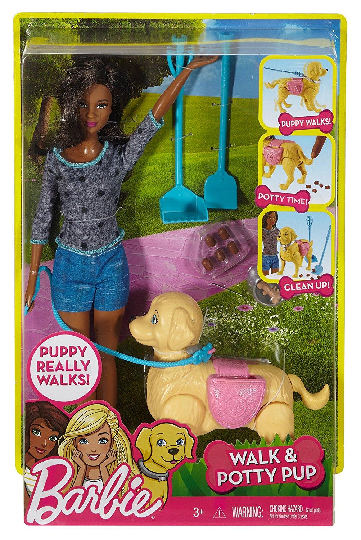 Барби прогулка с собакой брюнетка DWJ68