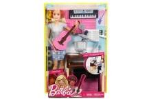 Кукла Барби шарнирная Музыкант с гитарой и синтезатором FCP73