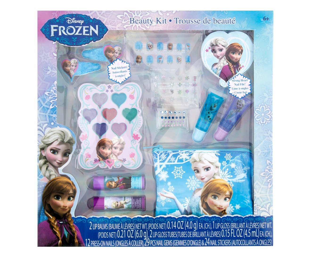 Косметика, набор для ногтей и косметичка Холодное сердце