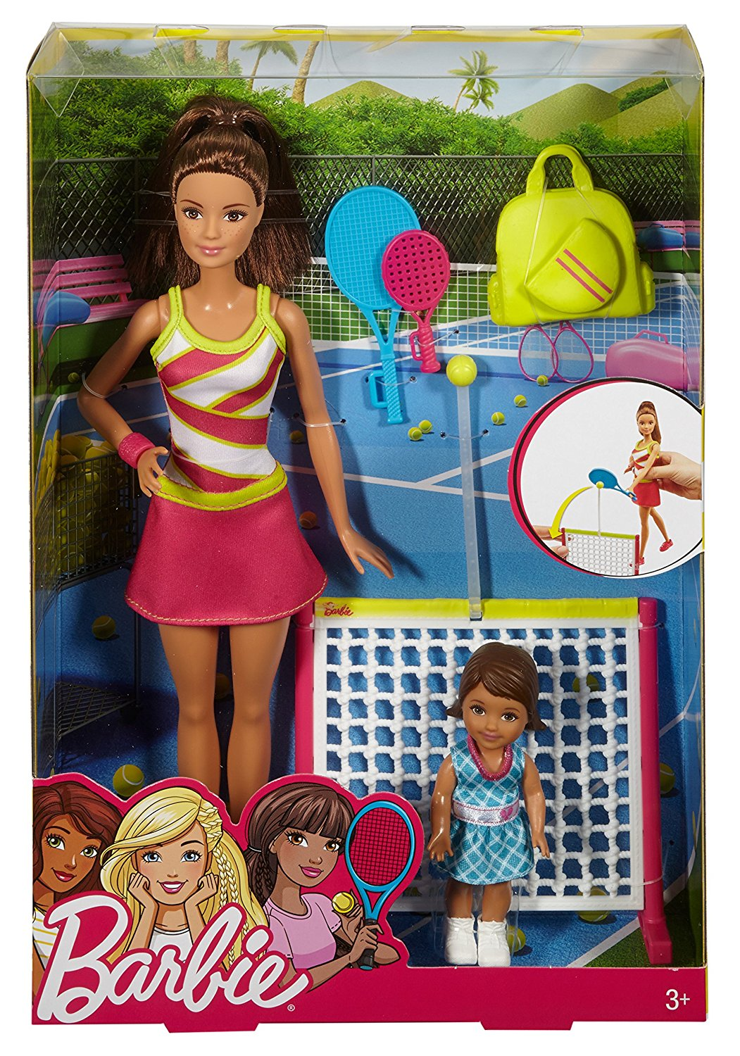 Кукла Барби брюнетка тренер по теннису Barbie Careers Tennis Coach