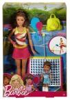 Кукла Барби брюнетка тренер по теннису Barbie Careers Tennis Coach