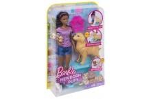 Кукла барби и собака с новорожденными щенками Barbie Newborn Pups Doll