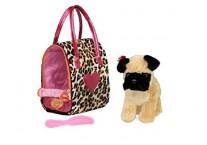 Щенок в леопардовой сумке Pucci Pups Pug Leopard Print Bag