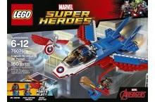 Конструктор Лего супергерои 76076 Капитан Америка воздушная погоня LEGO Super Heroes
