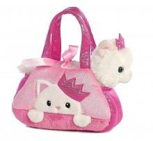 Белый котенок в сумке Aurora World Fancy