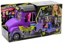 Монстер Хай школьный автобус Monster High FCV63 Deluxe Bus Mobile Salon