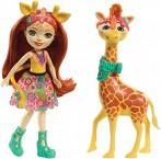 Кукла Энчантималс Жираф Джиллиан и питомец Павл  Enchantimals Gillian Giraffe