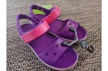 Крокс оригинал детские босоножки фиолетовые Crocs Kids Bayaband Sandal