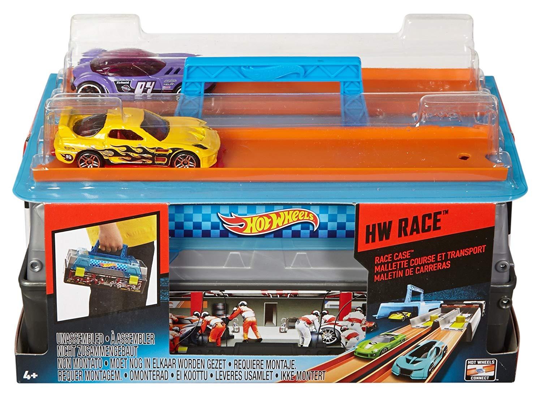 Хот вилс переносной кейс с пусковой установкой Hot Wheels Race Case Track