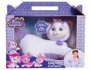 Беременная кошка с сюрпризом белая с фиолетовым Kitty Surprise Puppy Livy