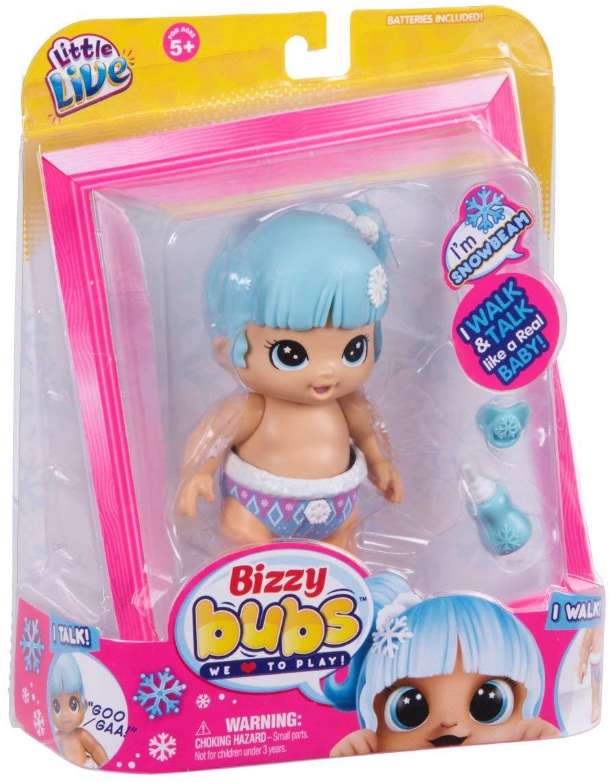 Интерактивный пупс Биззи бизи Бубс ходящий говорящий Little Live Bizzy Bubs Snowbeam