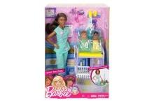 Кукла барби детский доктор педиатр мулатка брюнетка Barbie Baby Doctor