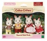 Семья шоколадные зайцы кролики сильваниан фемелис Sylvanian Families Calico Hopscotch Rabbit Family