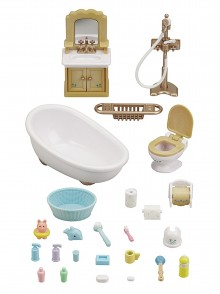 Сильваниан Фемелис ванная комната Sylvanian Families Calico Country Bathroom