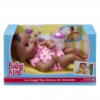 Кукла пупс темнокожая с бутылочкой Baby Alive Snuggle Baby