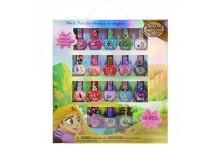 Набор детские лаки для ногтей принцессы Рапунцель 18 цветов Townley Girl