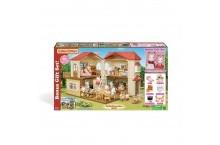 Сильваниан фемелис дом с зайцами и мебелью Calico Critters Red Roof Country Home