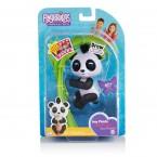 Интерактивная панда на палец блестящая черная WowWee Fingerlings Glitter Panda