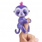 Интерактивный ленивец на палец фиолетовый Fingerlings WowWee Baby Sloth