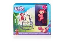 Интерактивная ручная обезьянка набор джунгли Fingerlings Wowwee Jungle Gym Interactive Baby Monkey