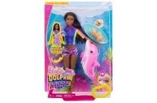 Кукла Барби брюнетка Магия дельфинов подводное плаванье Barbie Dolphin Magic Snorkel