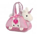 Плюшевый единорог в  розовой сумочке Aurora World Unicorn