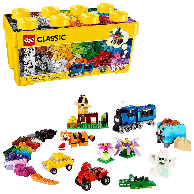 Конструктор лего коробка кубиков средняя 10696 LEGO Classic 484 детали