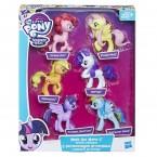 Май литтл пони набор 6 штук My Little Pony Meet The Mane Ponies