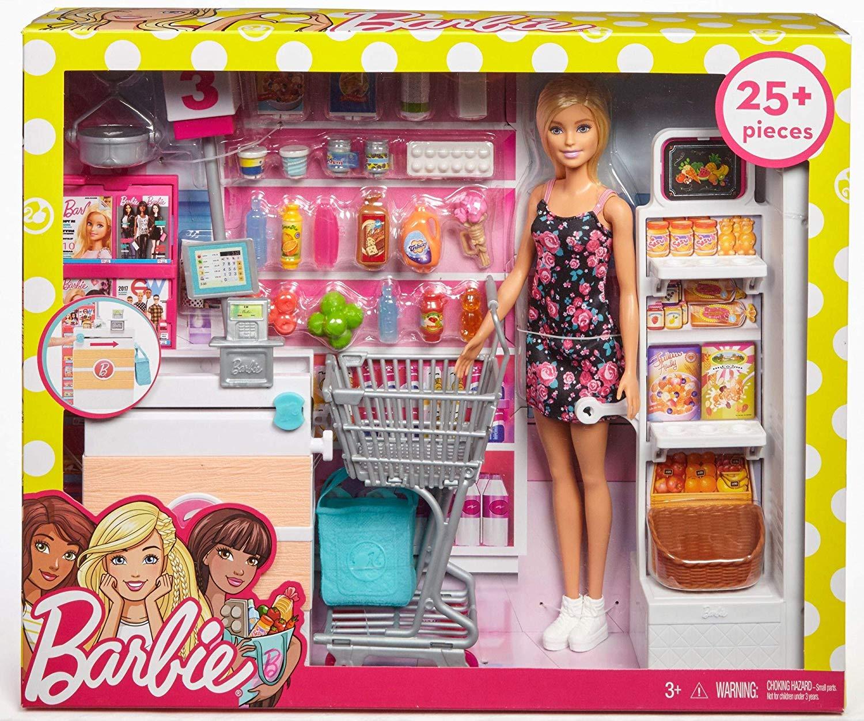 Кукла Барби набор супермаркет Barbie Supermarket Set Blonde FRP01