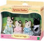 Сильваниан Фемелис черно-белые коты Sylvanian Families Tuxedo Cat Family