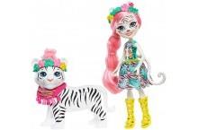 Энчантималс Белый тигр Тэдли и Китти Enchantimals Tadley Tiger Kitty