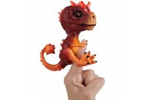 Интерактивный динозавр на палец WowWee Fingerlings Radioactive T-Rex