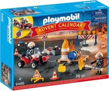 Адвент календарь Плеймобил пожарная станция PLAYMOBIL Advent Calendar Fire