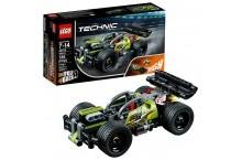 Конструктор Лего 42072 Lego Technic БУМ Зеленый гоночный автомобиль