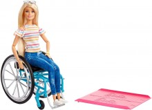 Кукла Барби блондинка на инвалидной коляске Barbie Fashionistas Blonde Rolling Wheelchair