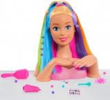 Большой манекен Барби радуга для причесок и маникюра Barbie Rainbow Deluxe Styling Head