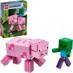 Конструктор Лего майнкрафт 21157 Большие фигурки Свинья и Зомби-ребёнок LEGO Minecraft Pig