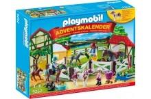 Плеймобил адвент календарь лошадинная ферма Playmobil Large Horse Riding School Advent Calendar