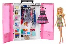 Шкаф кукла Барби и 15 аксессуаров Barbie Fashionistas Ultimate Closet