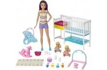 Барби Скиппер няня Детская комната Уход за малышами Barbie Nursery Skipper Babysitters