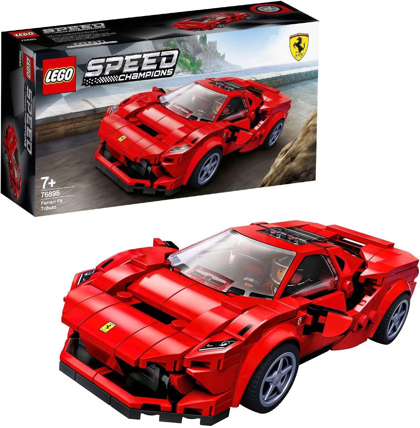 Конструктор Лего 76895 гоночный автомобиль Феррари LEGO Speed Champions Ferrari F8