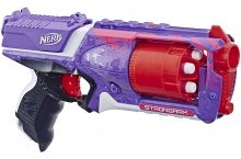 Бластер Нерф Элит Стронгарм фиолетовый Strongarm Nerf N-Strike