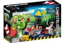 Конструктор Плеймобил Лизун и торговая тележка с хот-догами Playmobil 9222 Slimer Hot Dog Stand