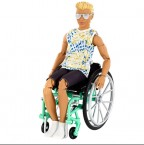 Кукла Барби Кен шарнирный в инвалидной коляске GWX93 Barbie Ken Fashionistas Doll #167 with Wheelchair