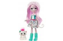 Кукла Энчантималс снежный барс с питомцем Enchantimals Sybill Snow Leopard