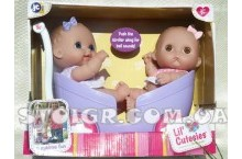 JC Toy LIL' CUTESIES пупсы в коляске для двойняшек